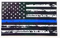 3'x5' Blue Lives Matter Flag [Distressed Look]